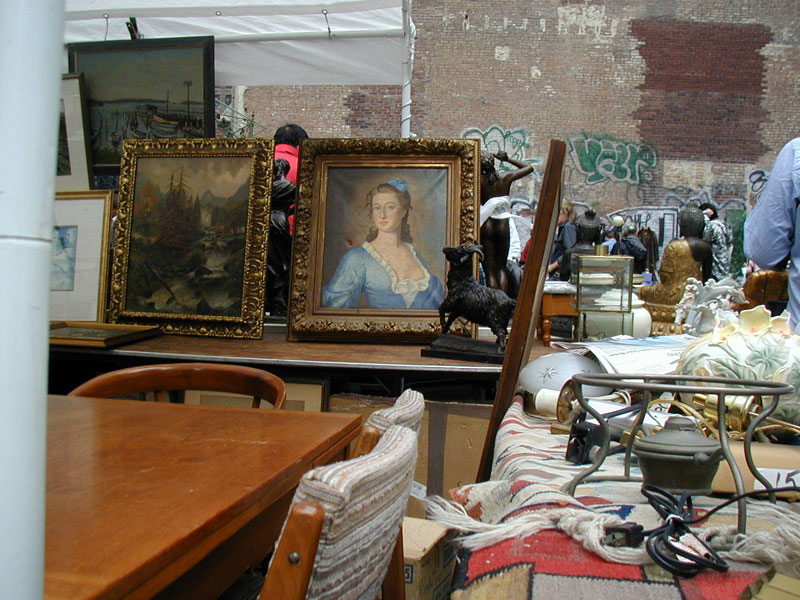 Different goods for sale at a flea market - copyright Romy Ashby
