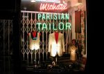 Display window of Michael Parisian Tailor - copyright Romy Ashby