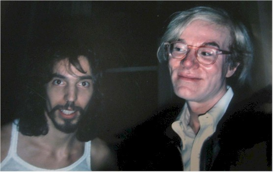 Neke Carson and Andy Warhol - copyright Anton Perich