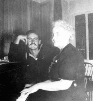 Al Carlin and his mother