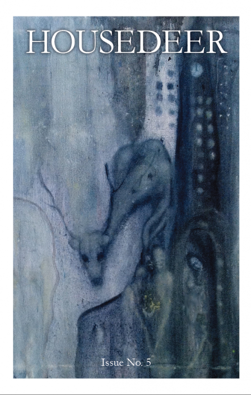 Deer in a fragment of a painting by Charles Schick